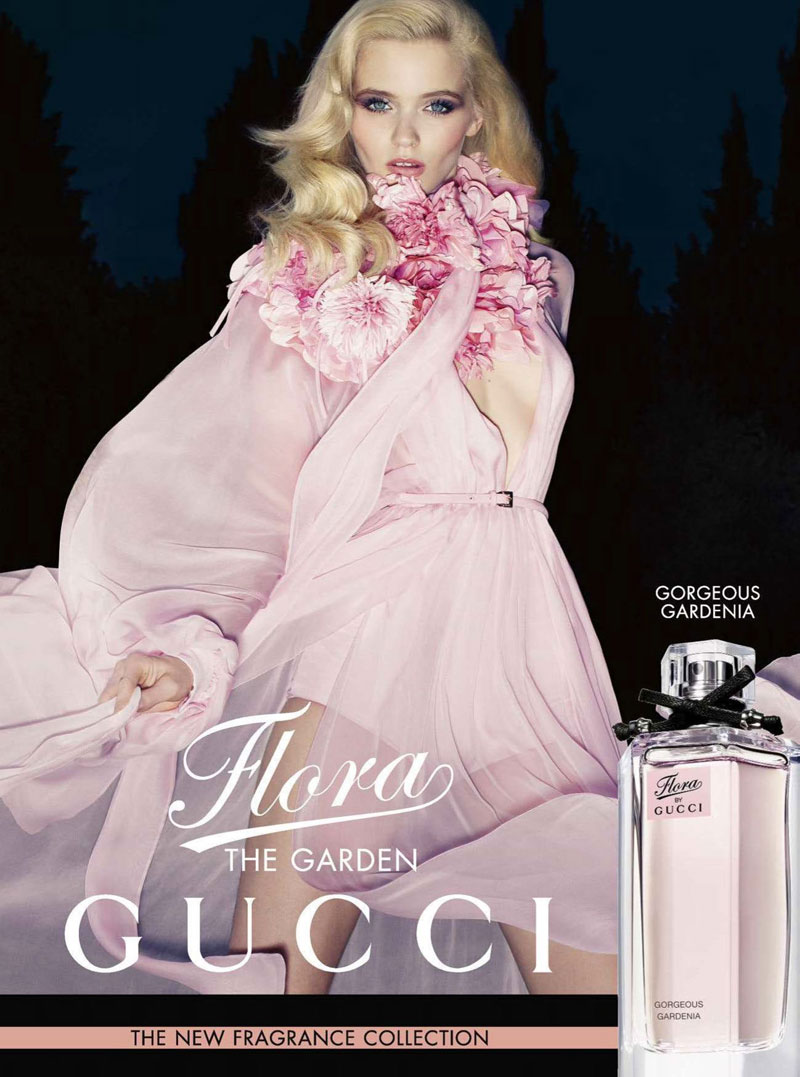 Abbey Lee Kershaw is Angelic in Gucci's Flora Fragrance Campaign by Sølve Sundsbø
