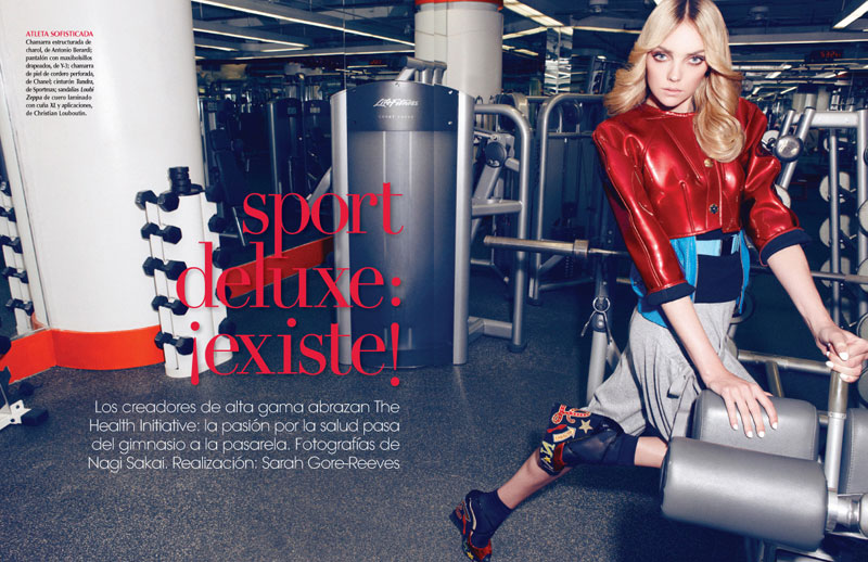 Heather Marks Works Out in Style for Vogue Mexico, Lensed by Nagi Sakai