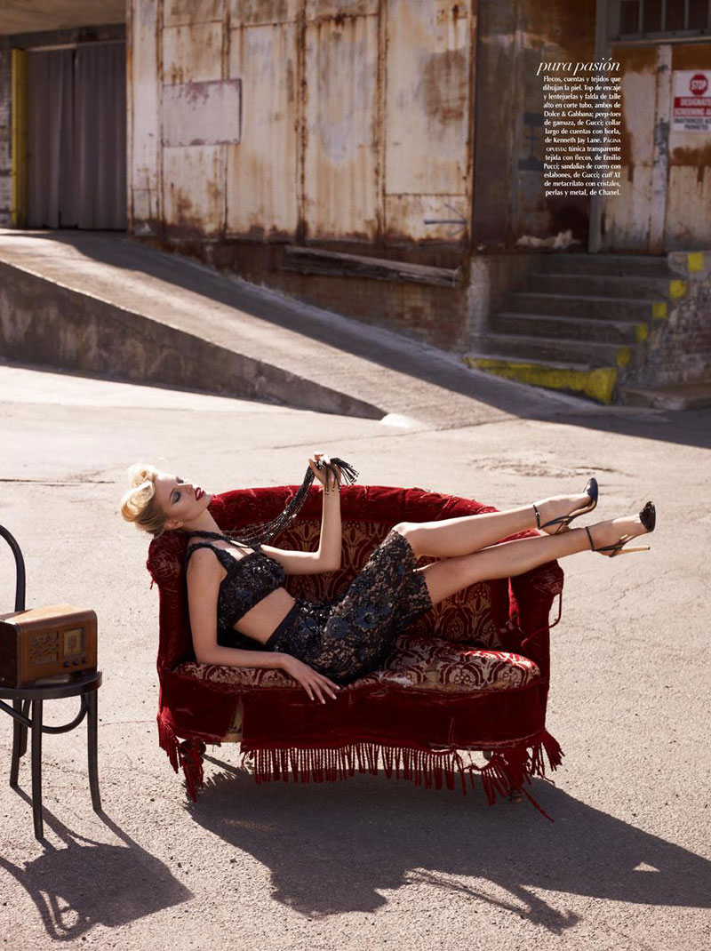 Karolina Kurkova is Movie Star Glam for Vogue Mexico's June Cover Shoot