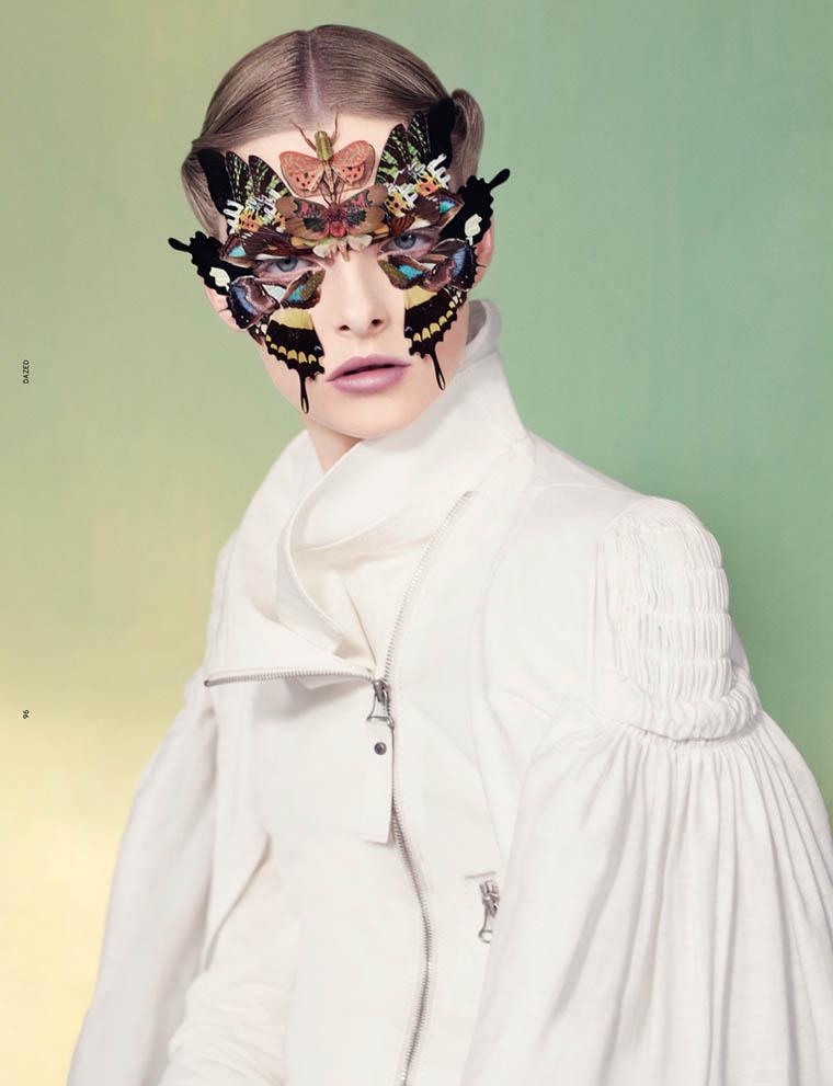 Elza Luijendijk Wears Butterfly Beauty for Ben Toms' Dazed & Confused Shoot