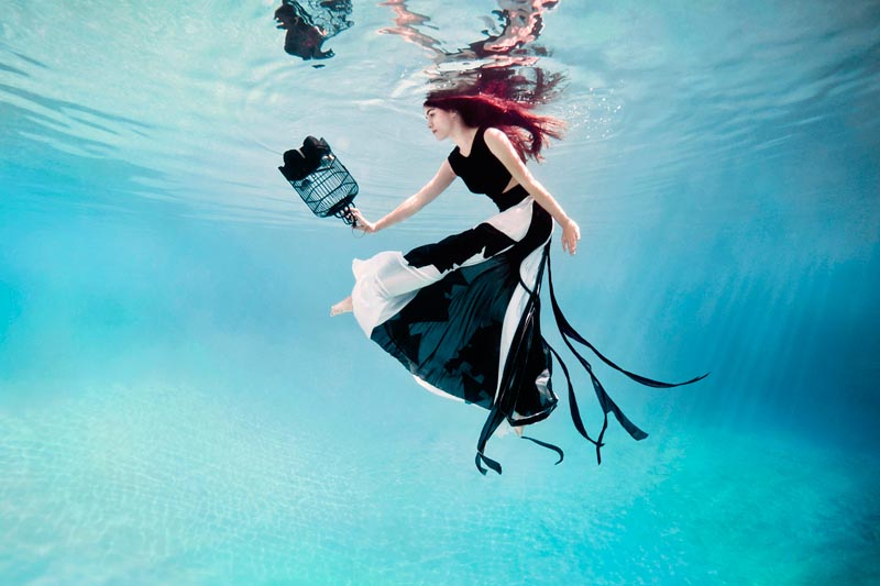 Feline Blush's 'Wonderland Couture' Campaign Offers Underwater Imagery by Ilse Moore