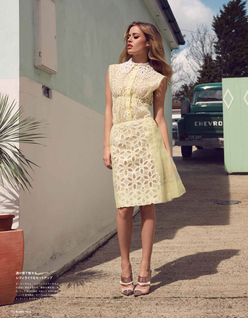 Georgia May Jagger is Sunny in Pastels for Numéro Tokyo July, Shot by Horst Diekgerdes
