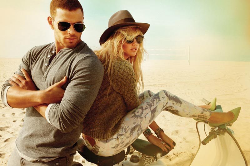 Kate Upton Is a Beach Babe for Dylan George and Abbot and Main's Fall 2012 Campaigns
