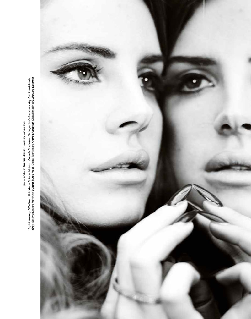Lana del Rey Reflects in Zoo Magazine's Summer Cover Shoot