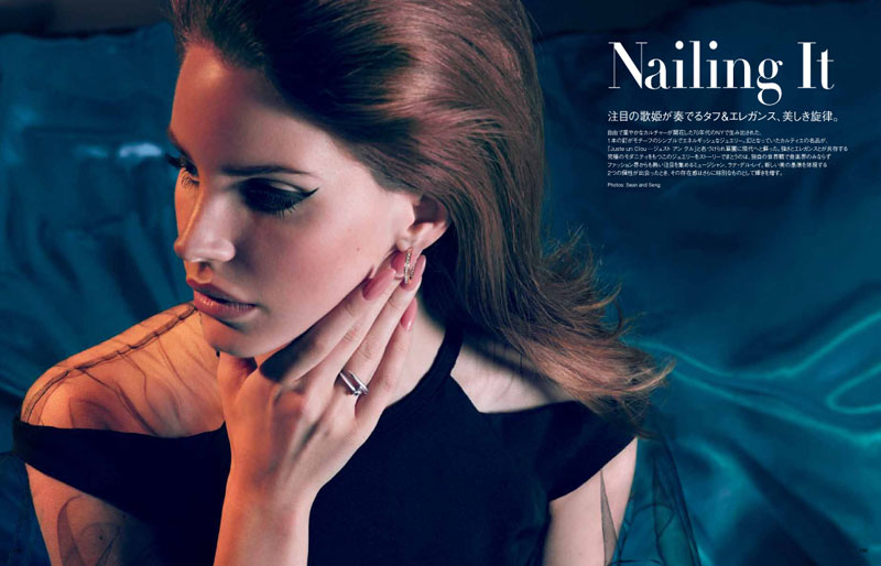 Lana del Rey Models Glam Beauty for Sean & Seng's Vogue Japan Shoot