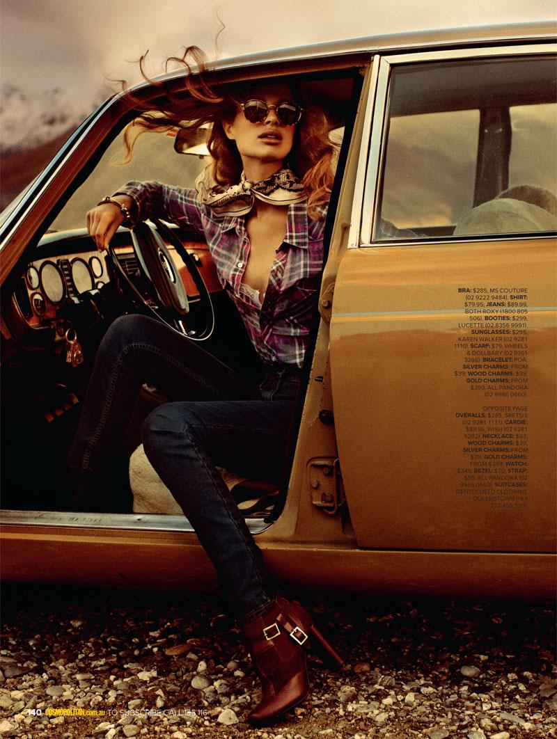 Lise Olsen Hits the Road for Cosmopolitan Australia July 2012