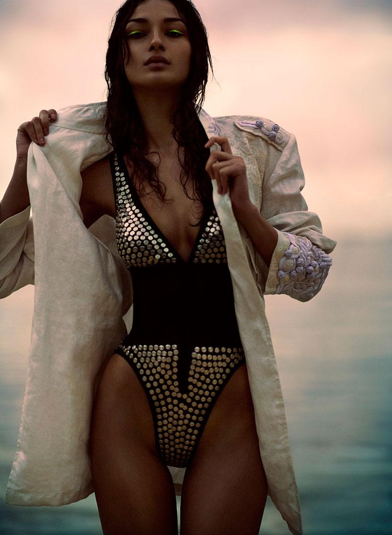 Bruna Tenorio is a Heat Seeker for Chris Nicholls' Flare July 2012 Shoot