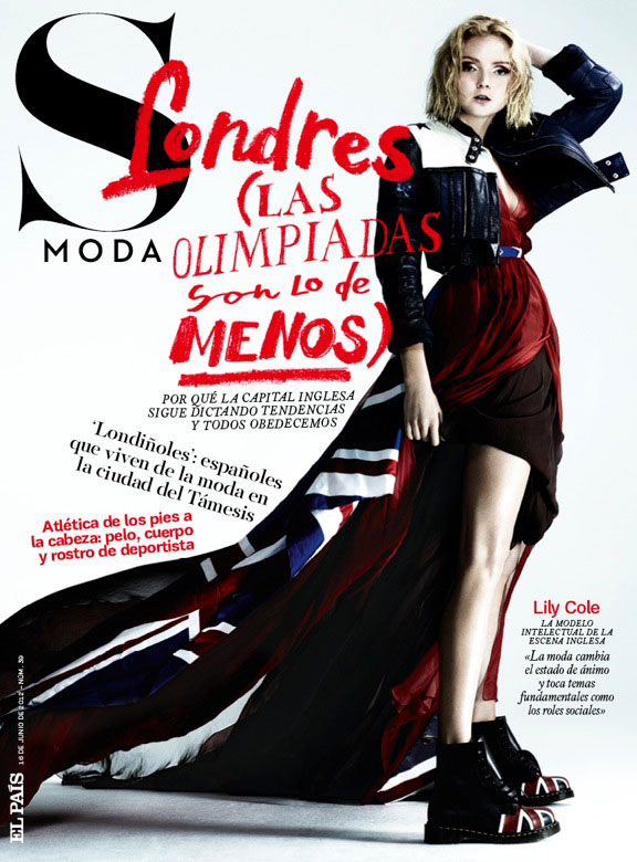 Lily Cole Has London Spirit for S Moda's June 2012 Issue by Damon Baker