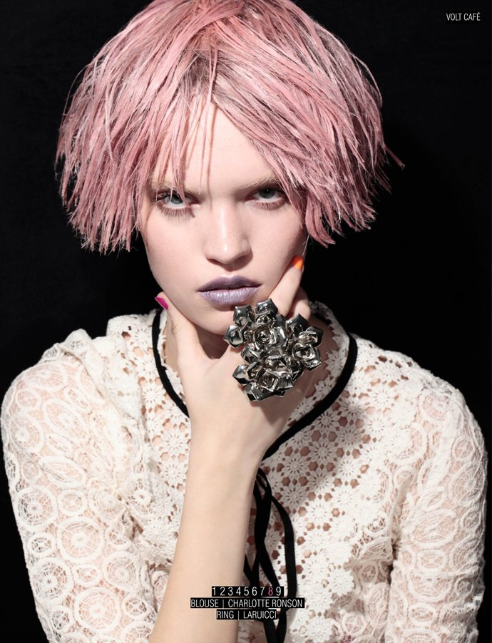 Luisa Bianchin is a Pink Lady for Volt #11 by Jacob Sadrak