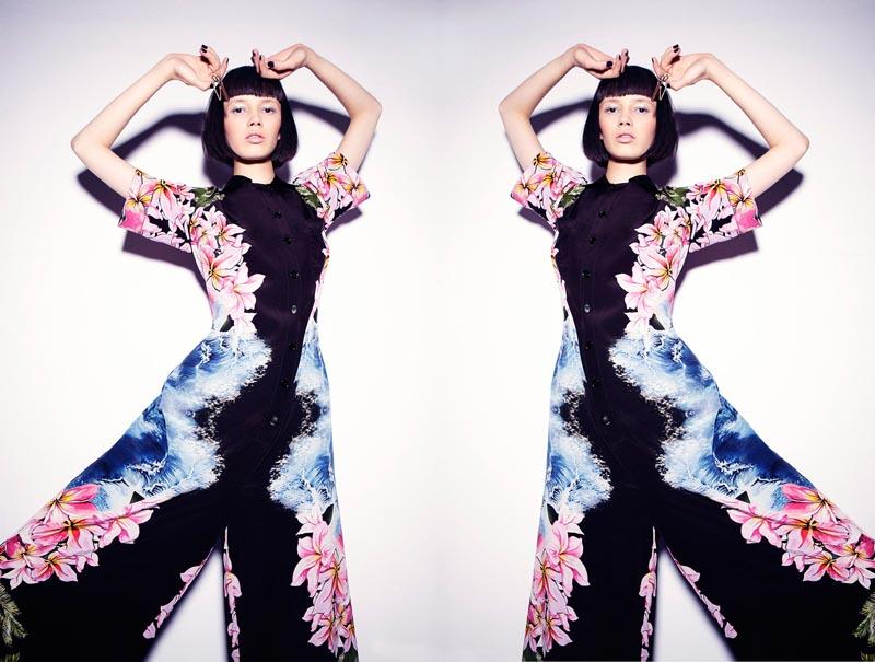 Ranya Mordanova Wears Retro Sporty Looks for Metal Magazine #27