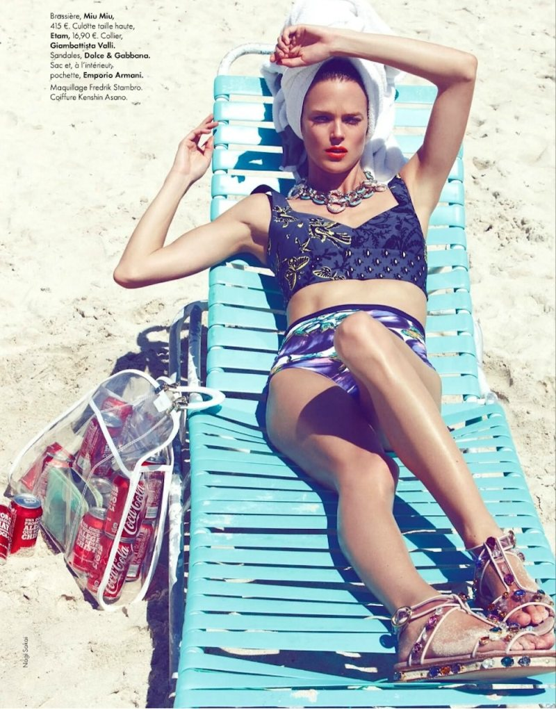 Shannan Click Hits the Beach for Nagi Sakai's Elle France Shoot
