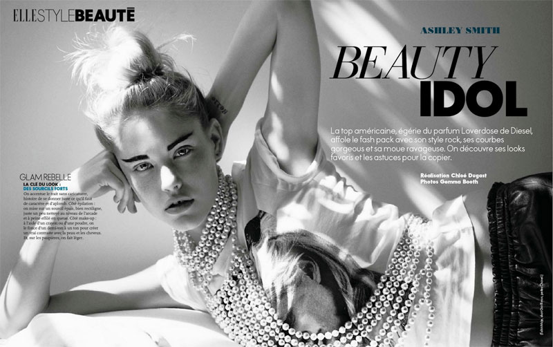 Ashley Smith is An American Beauty for Gemma Booth's Elle France Shoot