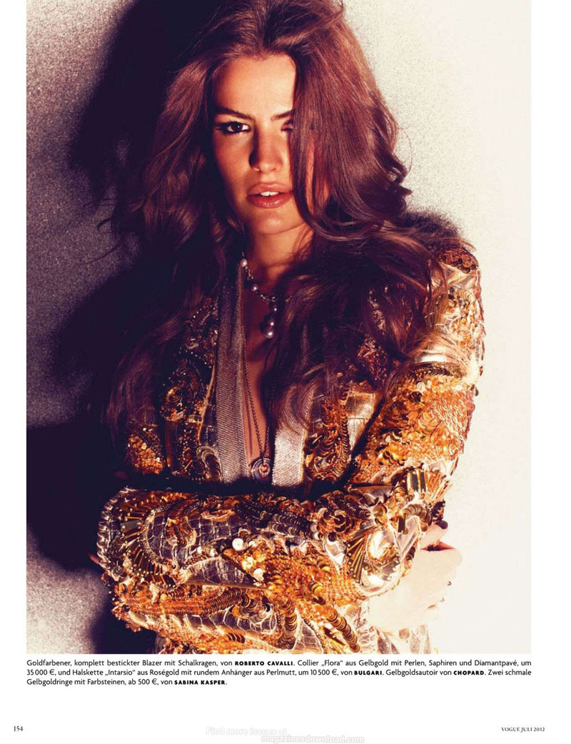 Cameron Russell Shines in Michelangelo di Battista's Vogue Germany Shoot