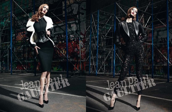 Karlie Kloss Plays Femme Fatale for Jean Paul Gaultier's Fall 2012 Campaign by Willy Vanderperre