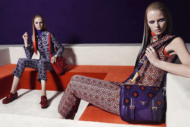 Anne Vyalitsyna, Magdalena Frackowiak, Iselin Steiro & More Enter the Labyrinth for Prada's Fall 2012 Campaign by Steven Meisel