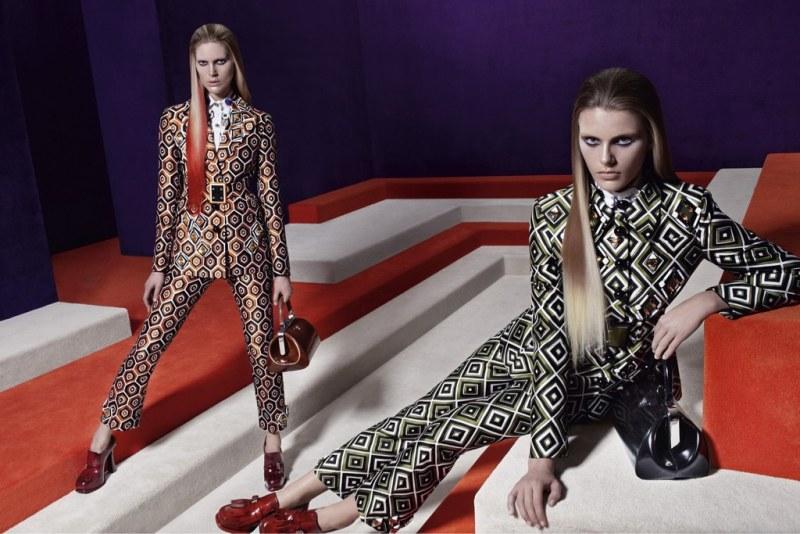 Prada's Fall 2012 Campaign Stars Iselin Steiro, Elza Luijendijk, Vanessa Axente & Madison Headrick by Steven Meisel