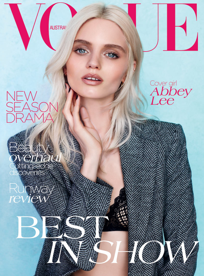 Abbey Lee Kershaw Is Striking in Vogue Australia's August Cover Shoot by Nicole Bentley