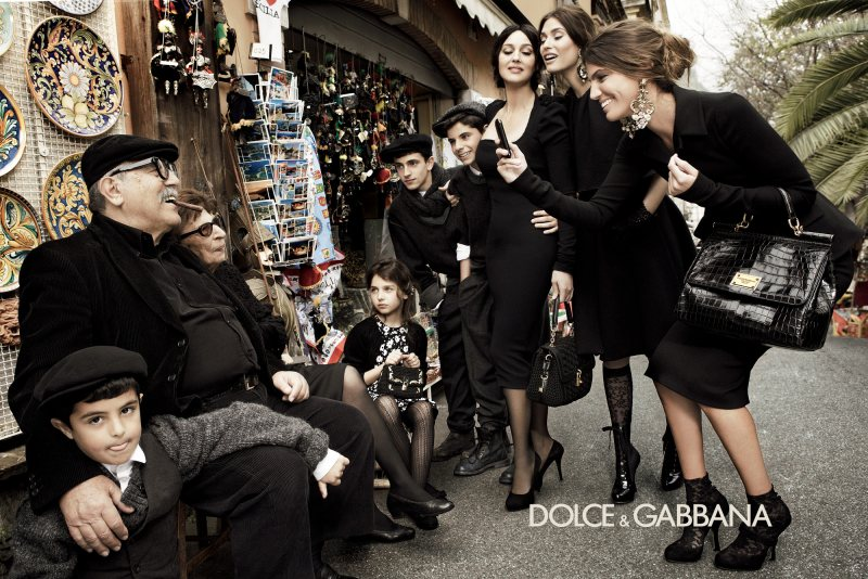 Monica Bellucci, Bianca Balti & Bianca Brandolini Are All in the Family for Dolce & Gabbana's Fall 2012 Campaign by Giampaolo Sgura