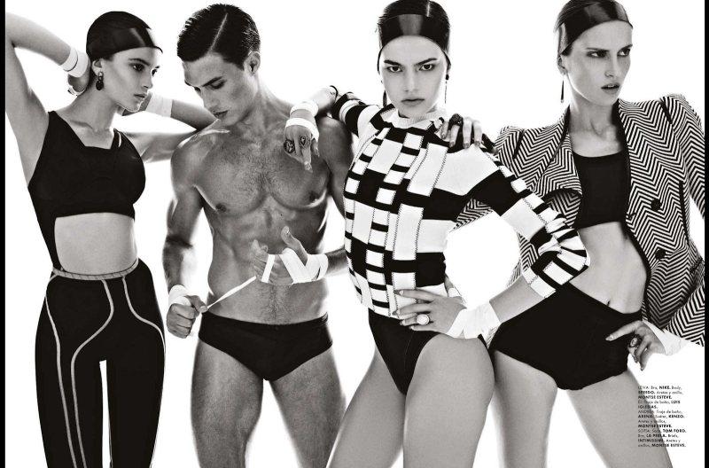 Alvaro Beamud Cortes Captures Workout Fever for Elle Mexico July 2012