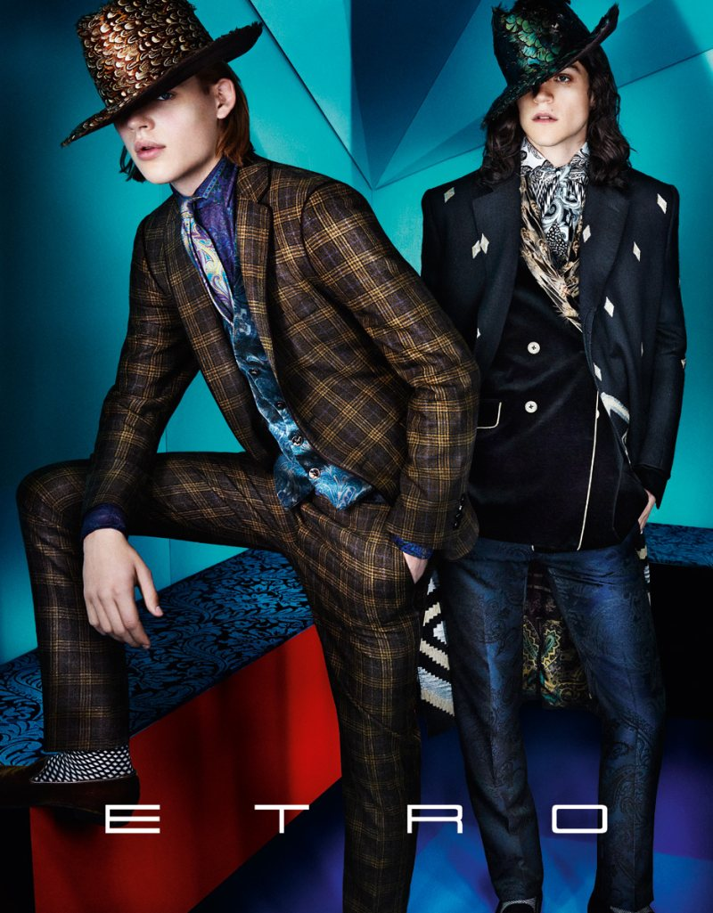 Iselin Steiro, Magda Laguinge & Laura Love Star in Etro's Fall 2012 Campaign by Mario Testino