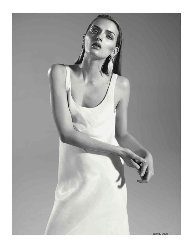 Lily Donaldson Is Dressed in White for Vogue Russia July 2012, Lensed by Richard Bush