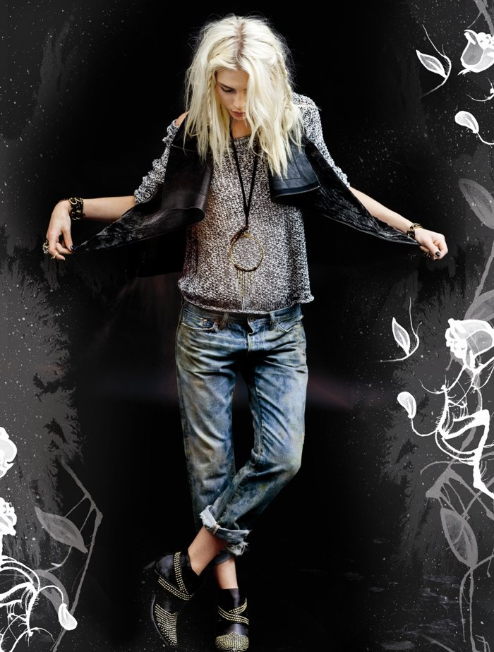 Karlie Kloss & Aline Weber Compare & Contrast for Free People's July 2012 Catalogue