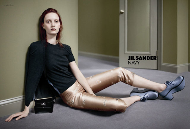Codie Young Takes a Seat for Jil Sander Navy's Fall 2012 Campaign by Daniel Jackson