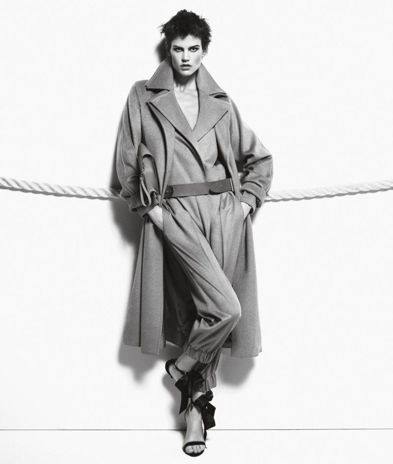 Saskia de Brauw Hits the Rope for Max Mara's Fall 2012 Campaign by Mario Sorrenti