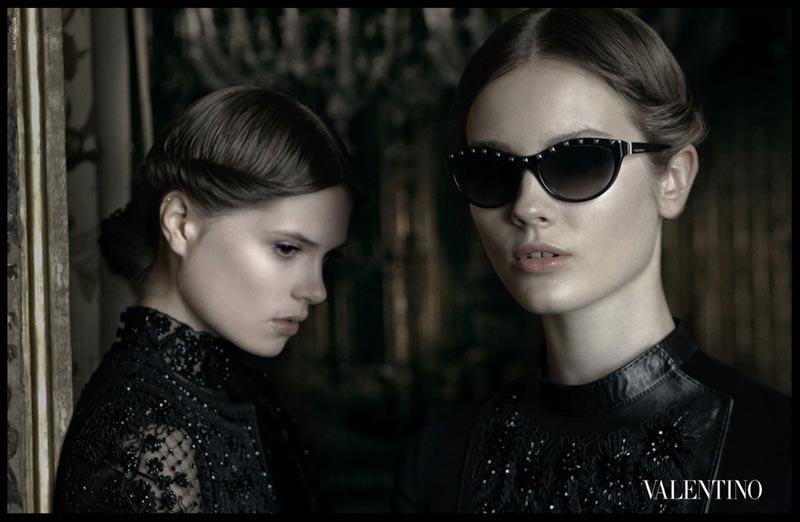 Frida Gustavsson, Jac Jagaciak & Caroline Brasch Nielsen Star in Valentino's Fall 2012 Campaign by Deborah Turbeville