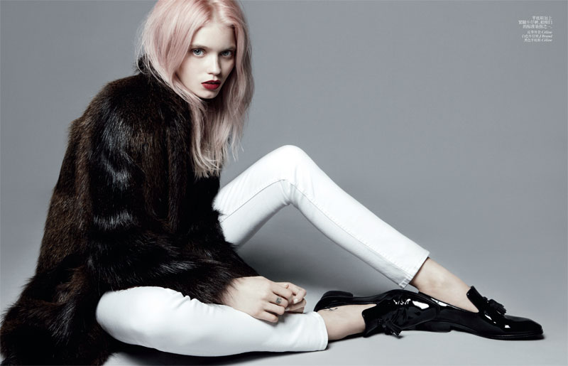 Abbey Lee Kershaw Poses Alongside Her Brother Tim for Vogue China's July Issue