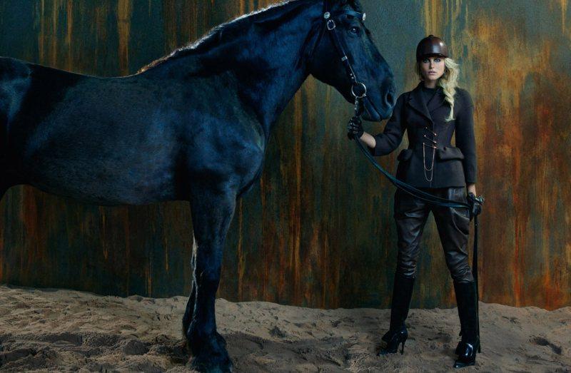 Dree Hemingway Gets Equestrian for Ermanno Scervino's Fall 2012 Campaign by Francesco Carrozzini