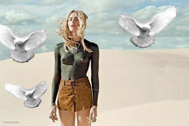 "Dree Hemingway Stars in ManiaMania's ""The Astral Plane"" Campaign by David Mandelberg"