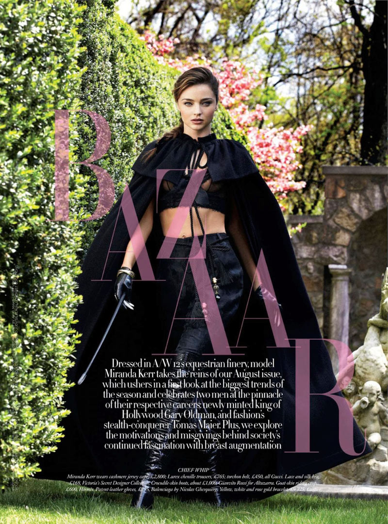Miranda Kerr Gets Equestrian for the August Issue of Harper's Bazaar UK