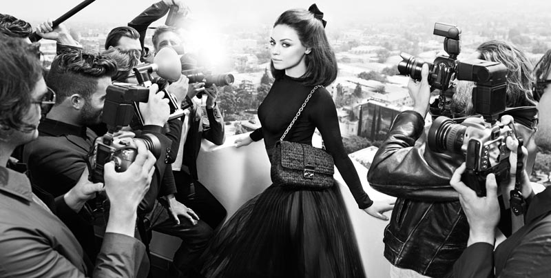 Mila Kunis Is in the Spotlight for the Miss Dior Handbag Fall 2012 Campaign by Mario Sorrenti
