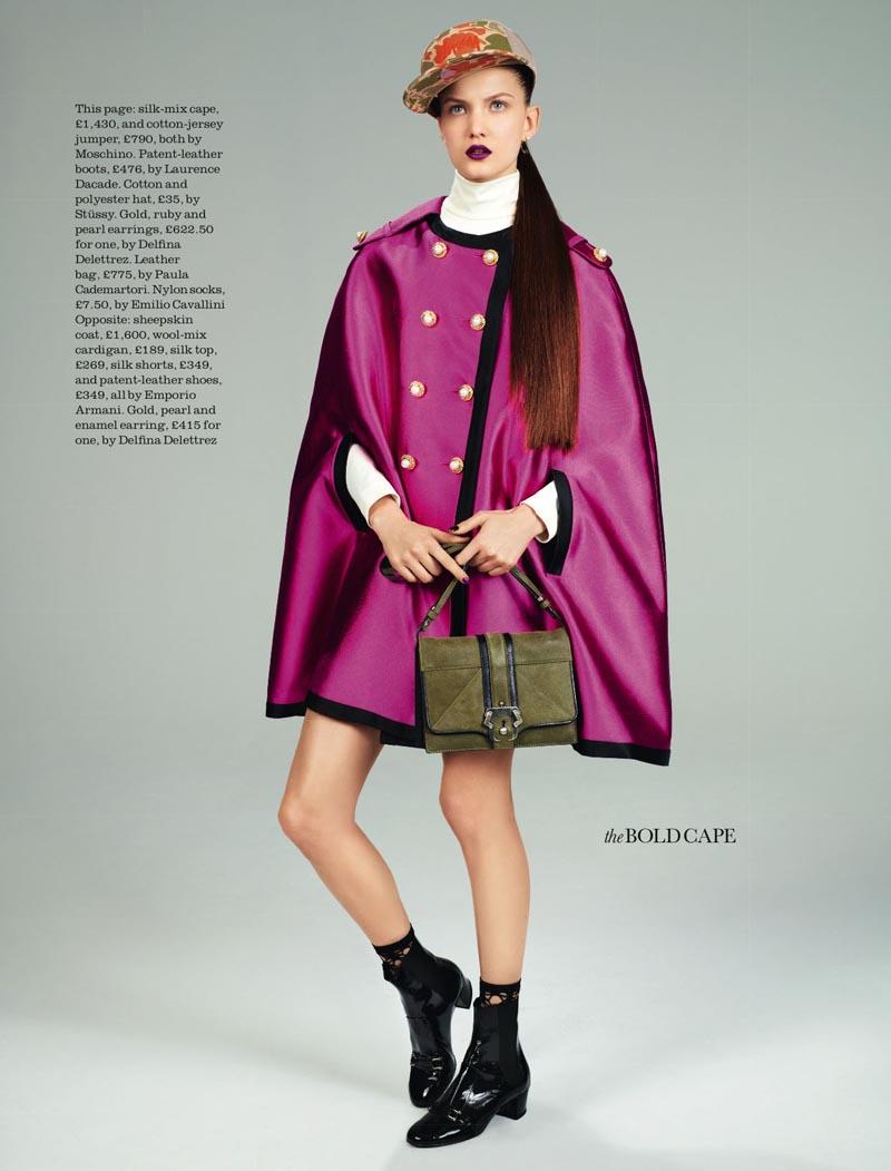 David Vasiljevic Captures Nadine Ponce in Fall Staples for Elle UK August 2012