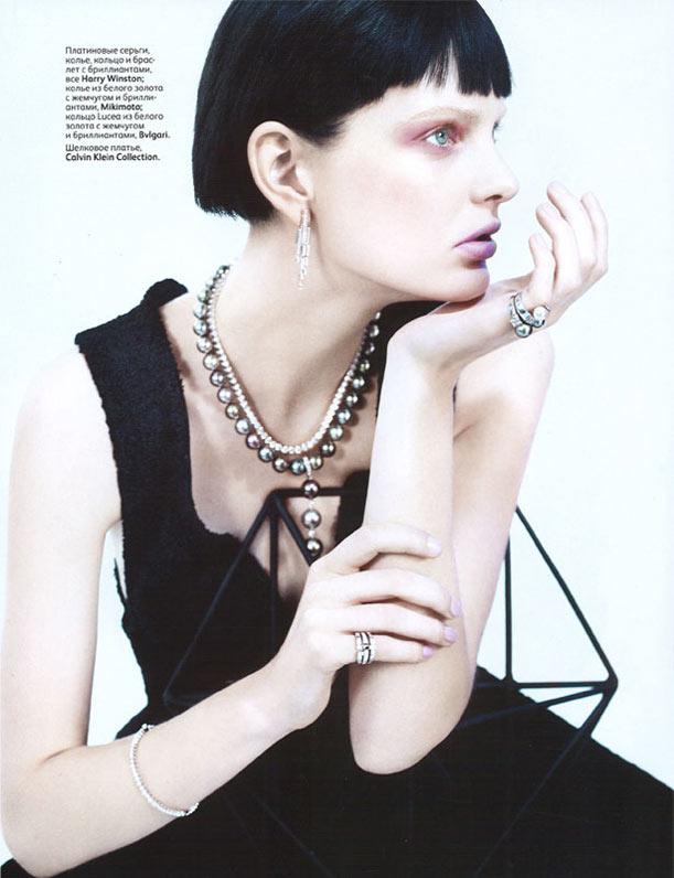 Patricia van der Vliet Glitters in Catherine Servel's Vogue Russia Shoot