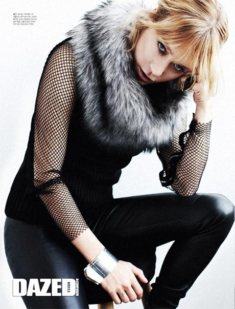 Chloe Sevigny Poses for the August Cover Shoot of Dazed & Confused Korea by Michael Schwartz
