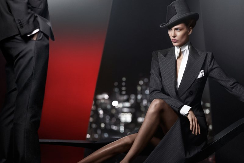 Aymeline Valade is a Woman in Charge for Donna Karan's Fall 2012 Campaign by Russell James