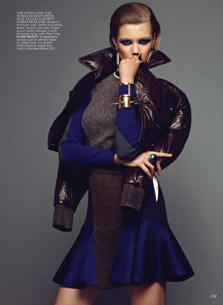 Lindsey Wixson Shines in Flare's September Cover Shoot by Max Abadian