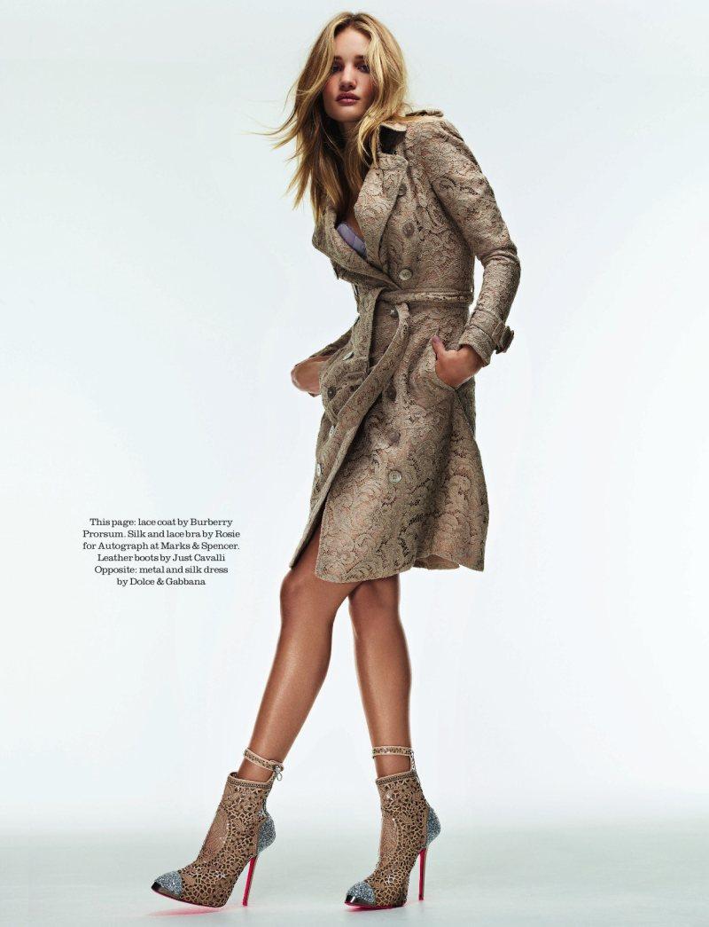 Rosie Huntington-Whiteley Wows in the September Issue of Elle UK by David Vasiljevic