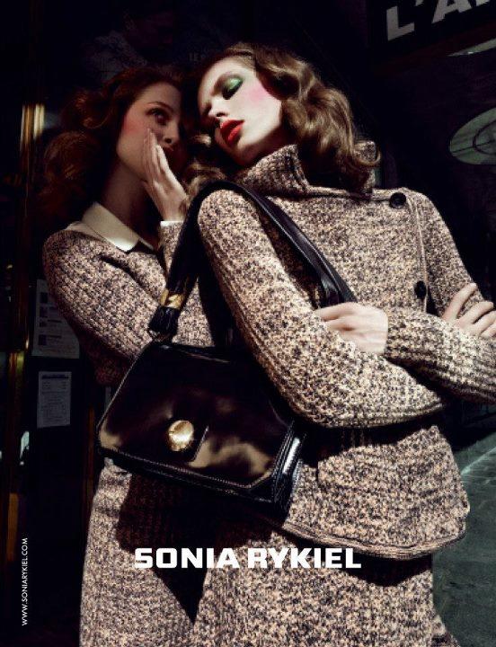 Anais Pouliot & Caroline Brasch Nielsen Are Parisian Glam for Sonia Rykiel's Fall 2012 Campaign