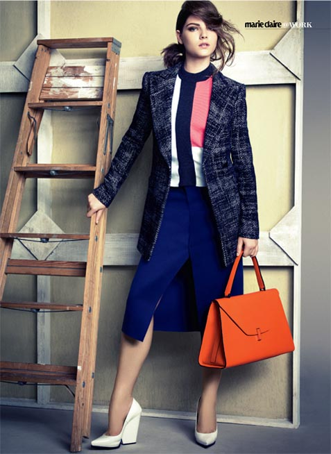 Tesh Lenses Office Ready Looks for Marie Claire US September 2012