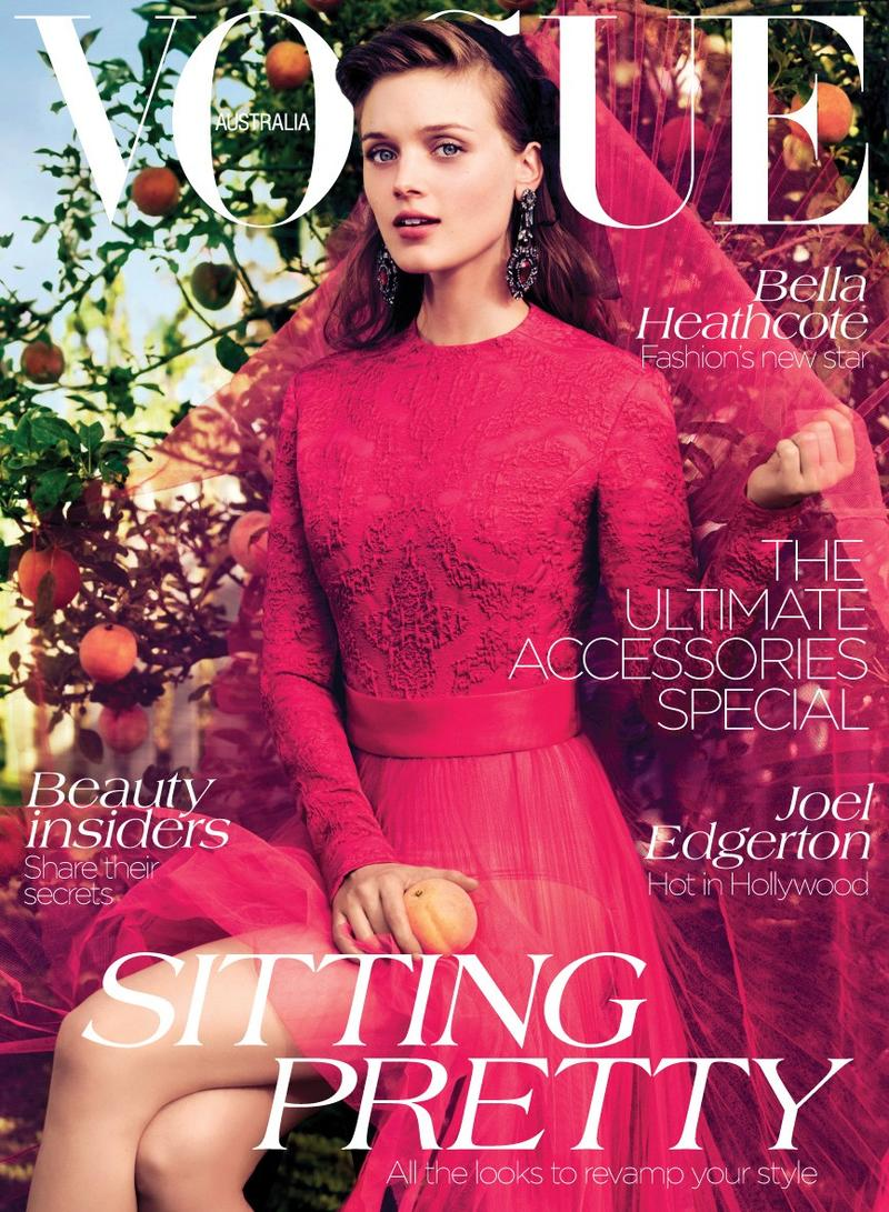 Bella Heathcote Dons Romantic Looks for Vogue Australia's September Cover Story