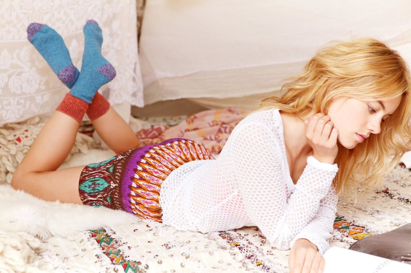 Camille Rowe Models Intimates for Free People's Latest Lookbook