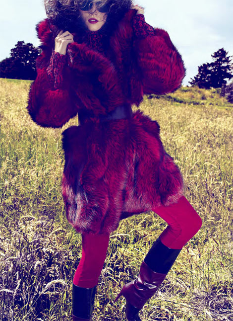 Egle Tvirbutaite Gets Wild for David Roemer's Marie Claire US Shoot