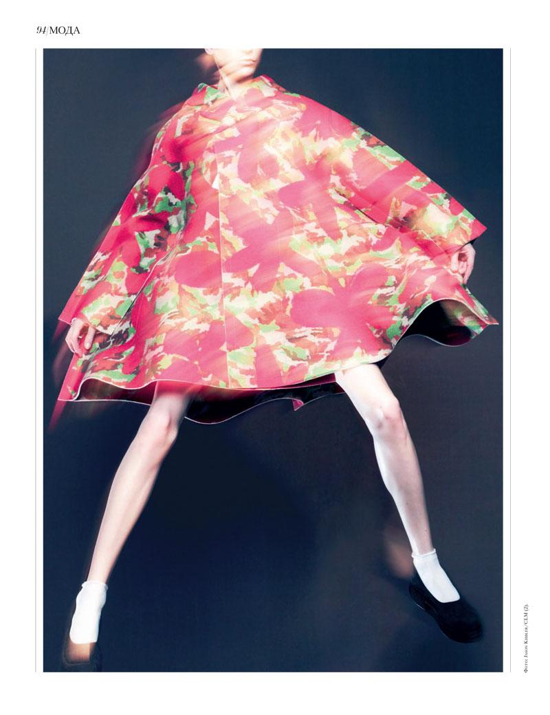 Jason Kibbler Captures the Spirit of Comme des Garçons' Fall Collection for Interview Russia