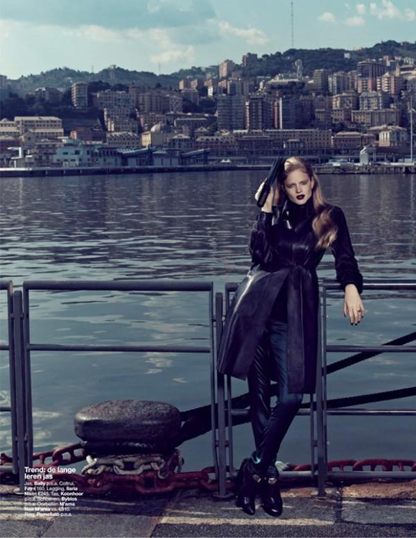Nathalia Oliveira is Military Glam for Elegance Netherlands September 2012