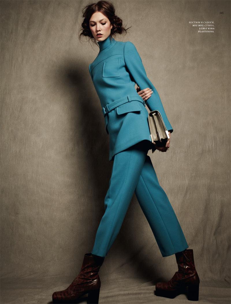 Karlie Kloss Stars in the Harper's Bazaar Russia September 2012 Cover Shoot by Natalia Alaverdian