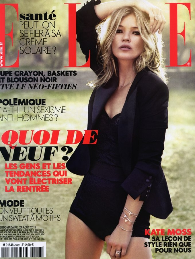 Kate Moss Covers the Latest Issue of Elle France With Effortless Elegance