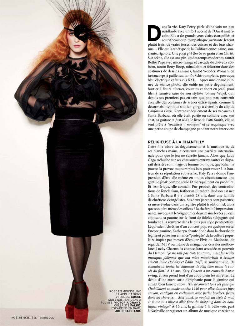 Katy Perry Gets Gothic for L'Officiel Paris' September 2012 Cover Story